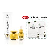 Bộ 3 sản phẩm Trắng Da Ngừa mụn KN Beauty chuyên sâu:Kem dưỡng 25g + Serum 30ml+ Tẩy tế bào chết 120ml (Tặng 2 Mặt nạ Saffron)