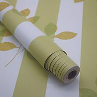 Giấy dán tường Sọc Xanh Lá Phong Cách Hàn Quốc Khổ 10M WP0422 HPMWallpaper
