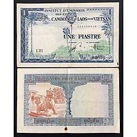 Tiền Xưa Đông Dương 1 Đồng Piastre Viện Phát Hành Năm 1954 Hình Con Lân [Tiền Cổ Xưa Sưu Tầm]