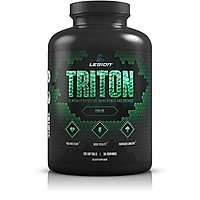 Legion Athletics Triton Fish Oil Capsules - Triple Strength Omega 3 Essential Fatty Acids with Vitamin E & Lemon Oil for Maximum Absorption, Freshness & Purity - 2400mg EPA & DHA Per Serving, 30 Svgs
