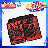 23PCS Stainless Steel Manicure Pedicure Kit Facial Care Set Nail Clipper Nail Cutter   with Portable Case