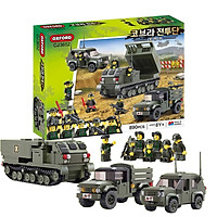 Đồ Chơi Lego Xếp Hình Quân Sự Xe Tăng - Xe Tải - Chiến Hạm - Bộ Lính Oxford CJ3652 gồm 890 Chi Tiết - Phát Triển Trí Thông Minh 8 Tuổi