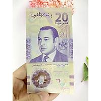 Tiền 20 Dirhams của Morocco ở châu Phi , tiền Polyme , tặng phơi nylon bảo quản tiền