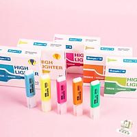 Bút nhớ dòng/highlight các màu hồng, cam, tím, xanh dương, xanh lá, vàng