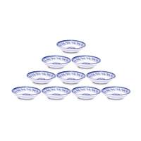 Bộ 10 Chén (Bát) chấm loe An Toàn Sức Khỏe Nhựa Xanh Melamine CCL9x3