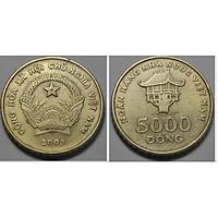 Xu 5000 đồng Việt nam 2003, combo 2  viên