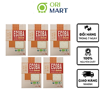 Combo 5 Gạo Hữu Cơ Ecoba Sakura - Ecoba Organic Japonica Rice 1kg