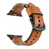 Dây đồng hồ da Handmade 06 khóa thép không gỉ dành cho đồng hồ Apple Watch