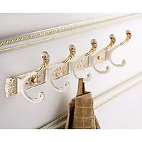 Giá treo quần áo, khăn tắm 5 móc - Tân cổ điển mạ vàng trắng