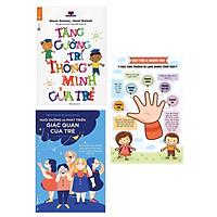 Combo 2 cuốn sách kiến thức dậy con trẻ phát triển đứng cách: Tăng Cường Trí Thông Minh Của Trẻ + Nuôi Dưỡng Và Phát Triển Giác Quan Của Trẻ  + Poster quy tắc năm ngón tay
