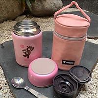 Bình ủ cháo inox 316 tặng túi giữ nhiệt và muỗng inox