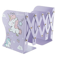 Cute Metal Iron Bookends,Unicorn Book Holder Stand Desk Heavy Adjustable