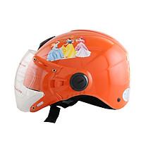 Mũ bảo hiểm trẻ em 1/2 đầu có kính hình công chúa cho bé gái chính hãng Bktec nón bảo hiểm cao cấp