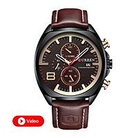 Đồng hồ dây da đeo tay nam Chạy Đủ 6 Kim thương hiệu CURREN | Hàng nhập khẩu
