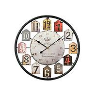 Đồng hồ treo tường trang trí, đồng hồ hình tròn DH-DH2006 - Màu ngẫu nhiên