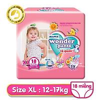 Tã quần Diapex Wonder Pants size XL - 18 gói trung
