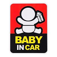 Tem Decal baby in the car dán đuôi xe H40311