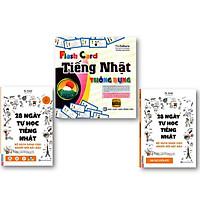 Bộ Sách Học Tiếng Nhật Siêu Tốc (A 28 ngày tự học tiếng Nhật – Ghi chú luyện viết – Sách bài tập và Flashcard Tiếng Nhật Thông Dụng (Hộp)  DL