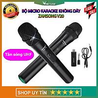 Bộ 2 Micro Karaoke Không Dây Băng Tần UHF ZANSONG V20 Dùng Cho Âm Ly Dàn Âm Thanh Và Các Loại Loa Kéo - Hỗ Trợ Thiết Bị Có Jack Cắm 3.5mm Và 6.5mm - Micro Không Dây -Hàng Nhập Khẩu