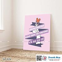 Tranh động lực trang trí phòng làm việc - Chinh phục khách hàng bằng tình yêu thương và sự tử tế - DL340
