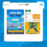 Sách - Combo 2 cuốn Hack Não Ngữ Pháp Tiếng Anh và Hack Não Giao Tiếp - Tặng App Hack Não Pro học phát âm vĩnh viễn