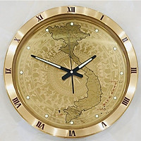 Đồng hồ tròn  S30 in bản đồ việt nam