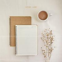 Sổ tay basic notebook - Gáy lò xo - Ruột kẻ dòng A5
