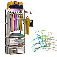 Kệ treo, sắp xếp đồ 4 tầng 3 ngăn đa năng + Tặng 3 chiếc móc treo quần áo 3 tầng