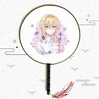 Quạt tròn cổ trang Violet Evergarden anime cầm tay
