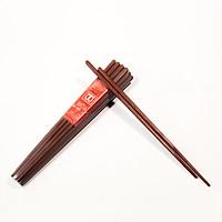 Bộ 10 đôi đũa cao cấp đũa đẹp đũa sạch thân 8 canh chống lăn ( chất liệu gỗ cẩm )size nhật