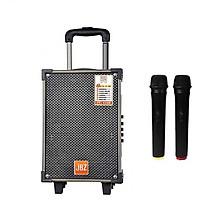 Loa Karaoke Bluetooth Jbz Ne107 140W Bass 2.5 Tấc Có 2 Micro Không Dây - Hàng Nhập Khẩu