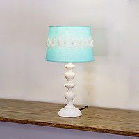Đèn bàn décor Chân Chuỗi ngọc trắng