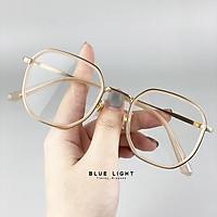Kính Giả Cận, Gọng Kính Cận Mắt Vuông Màu Cam Trẻ Trung Nổi Bật - BLUE LIGHT SHOP