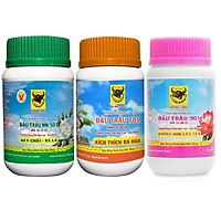 Bộ phân bón  Bình Điền Mekong chăm sóc cây trồng từ nhỏ đến ra hoa (MK 501- MK 701- MK 901 3 hũ x 100g)