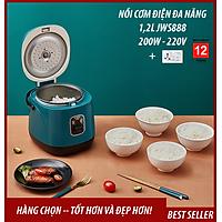 Nồi cơm điện đa năng mini JWS-888 nấu cơm, cháo, súp, làm bánh, ... 1,2L kiểu dáng Hàn Quốc