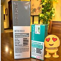 Combo Detox Blanc Thải độc Giảm mụn tận gốc Mặt Nạ Detox mask và Serum mụn Lộc Đề(mẫu mới) + Tặng kèm thú nhún lò xo siêu dể thương