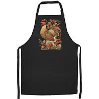 Tạp Dề Làm Bếp In họa tiết Gà rực đỏ