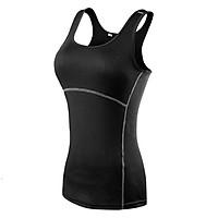 Áo thun thể thao NỮ tập Yoga - D2001, áo tập Gym Nữ 3 lỗ thoáng khí cao cấp - POKI
