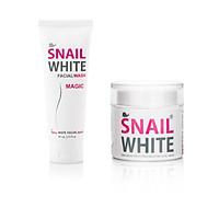Combo dưỡng trắng sữa rửa mặt dịu nhẹ và kem trắng da snail white