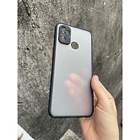 Ốp lưng nhám mờ cho Oppo A53 chống sốc, bảo vệ Camera (đen)