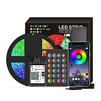 Dải Đèn LED Wi-Fi RGB LED 16,4ft 150 hỗ trợ điều khiển 16 triệu màu bằng app smarrt life và giọng nói
