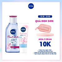 [Mua 1 tặng 1] Nước tẩy trang NIVEA làm sáng da Pearl White Micellar Water (400ml) - 84912 - Tặng Sữa Rửa Mặt Pearl White 50gr
