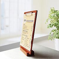 Kệ gỗ A4 kẹp menu, tờ rơi, thông báo