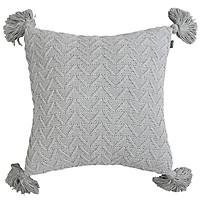Gối Vuông Trang Trí, Gối Sofa Đơn Giản  Make My Home PomPom (45 x 45 cm)