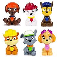 Bộ 6 mô hình nhân vật biệt đội những chú chó cứu hộ Paw Patrol 4-6 cm nhựa ABS an toàn cho bé làm đồ chơi