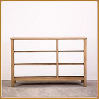 Kệ trang trí gỗ sồi 6 ngăn kéo Juno Sofa