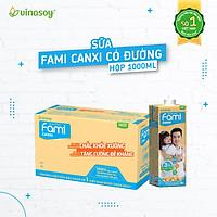 Thùng 10 Hộp Sữa đậu nành Fami Canxi (1000ml/Hộp)