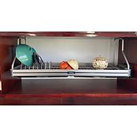 Kệ chén, kệ treo tủ bếp, kệ chén treo 1 tầng, kệ bát Inox 304- Premium