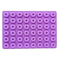 Khuôn Silicon vĩ 48 Donut tròn