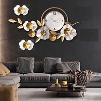 Đồng hồ treo tường nghệ thuật cao cấp Hoa - Kèm hình thật